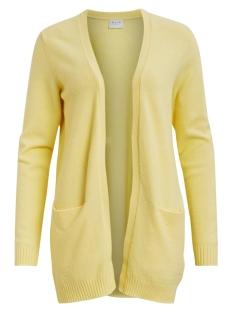 viril open l/s  knit cardigan-fav 14044095 vila vest mellow yellow/melange