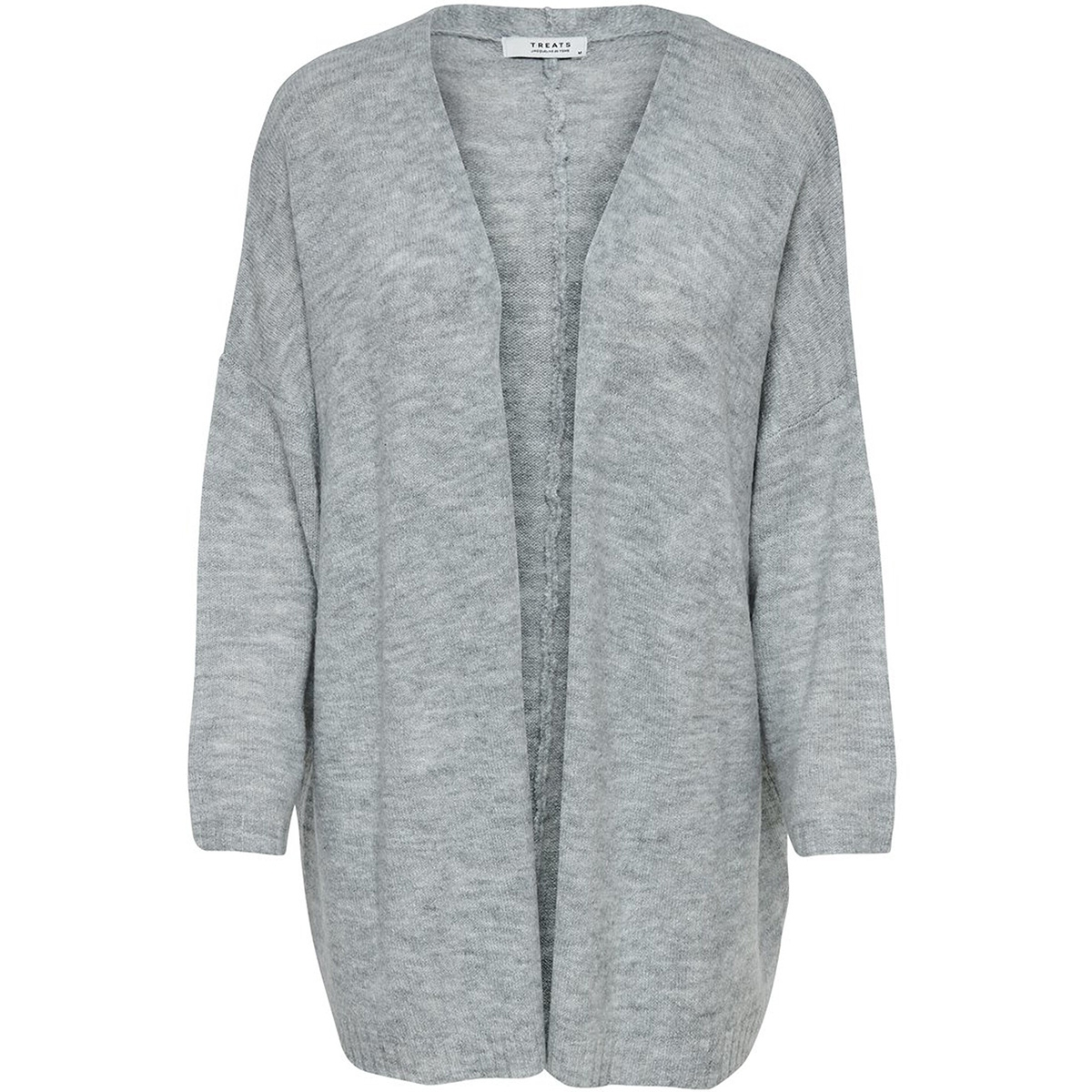jdycrea treats l/s noos cardigan kn 15176730 jacqueline de yong vest light grey melange