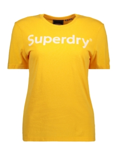 Superdry T-shirt REG FLOCK ENTRY TEE W1010023A SPORTY OCHRE