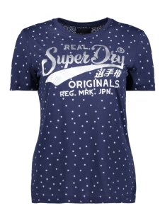 Superdry T-shirt RO DOT AOP ENTRY TEE W1010033A ATLANTIC NAVY