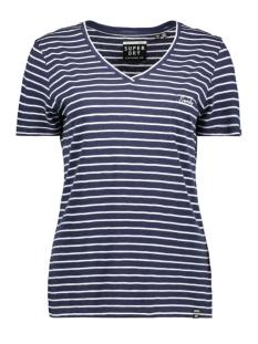 Superdry T-shirt OL ESSENTIAL VEE TEE W6010136A NAVY STRIPE