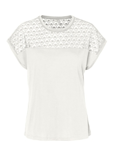 Vero Moda T-shirt VMSOFIA SS LACE TOP GA NOOS 10231073 Snow White