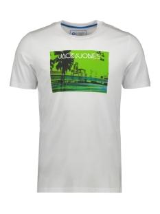 Jack & Jones T-shirt JCOLAZER TEE  SS CREW NECK 12165656 WHITE
