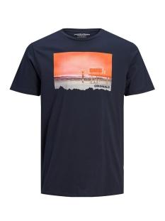 jorfading tee ss crew neck 12170562 jack & jones t-shirt navy blazer/reg
