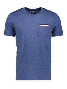 jcocarlos tee ss crew  neck 12167302 jack & jones t-shirt navy peony/slim/melange
