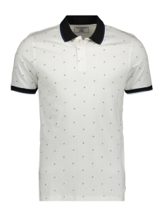 Jack & Jones Polo JCOCARLO POLO SS 12167234 White Melange/SLIM