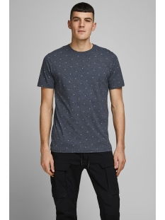 jcocarl aop tee ss crew neck 12167243 only & sons t-shirt sky captain/slim/mel