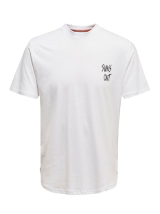 Only & Sons T-shirt ONSKIAN REG SS TEE 22016070 Bright White