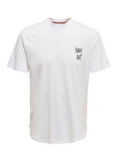 onskian reg ss tee 22016070 only & sons t-shirt bright white