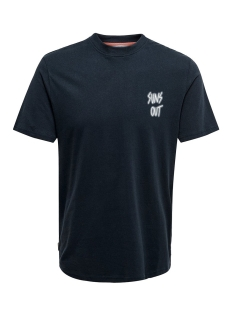 onskian reg ss tee 22016070 only & sons t-shirt dark navy