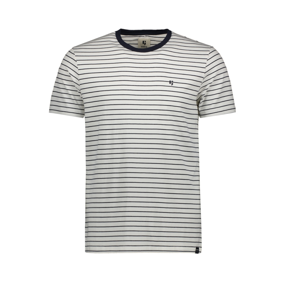 t shirt met streep gs010102 garcia t-shirt 292 dark moon