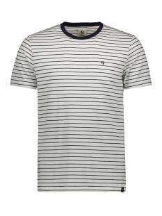 Garcia T-shirt T SHIRT MET STREEP GS010102 292 Dark Moon