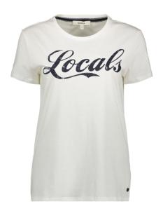 Garcia T-shirt T SHIRT MET TEKSTPRINT O00002 53 OFF WHITE