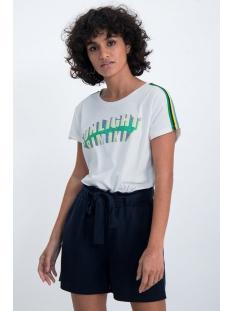 Garcia T-shirt T SHIRT MET GLITTER TEKST PRINT O00007 53 OFF WHITE