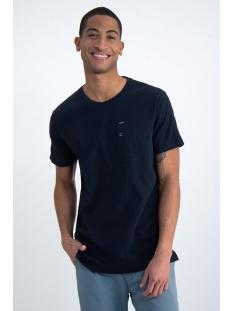 Garcia T-shirt T SHIRT MET BORSTZAK O01003 292 DARK MOON