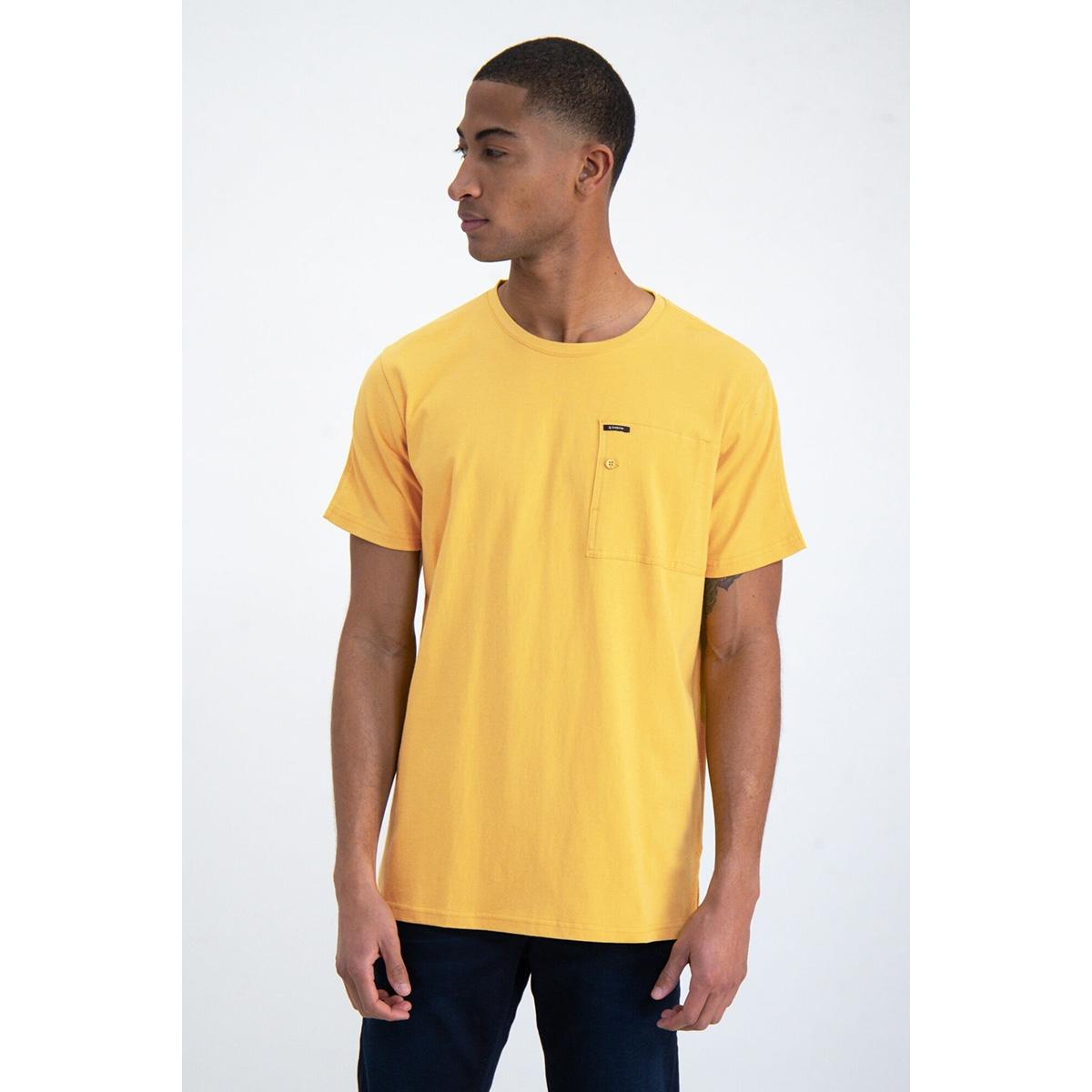 t shirt met borstzak o01003 garcia t-shirt 3073 yellow rock