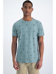 Garcia T-shirt T SHIRT MET ALL OVER PRINT O01005 3089 MINERAL BLUE
