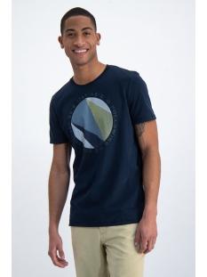 Garcia T-shirt T SHIRT MET PRINT O01002 292 DARK MOON