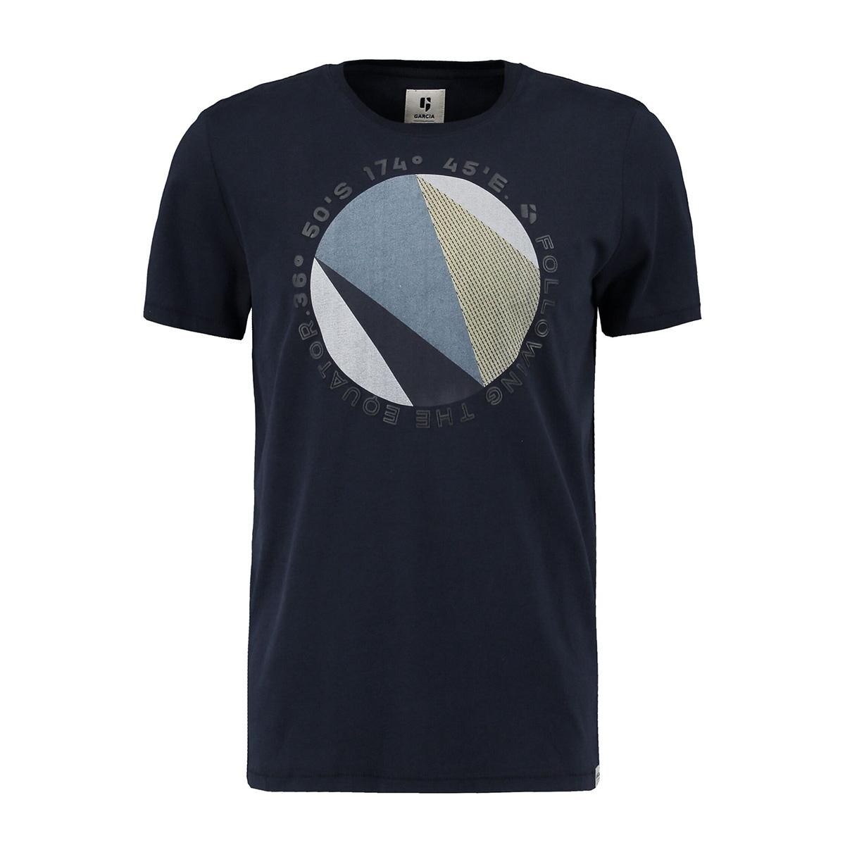 t shirt met print o01002 garcia t-shirt 292 dark moon