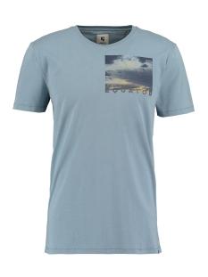 Garcia T-shirt T SHIRT MET PRINT O01002 3089 MINERAL BLUE