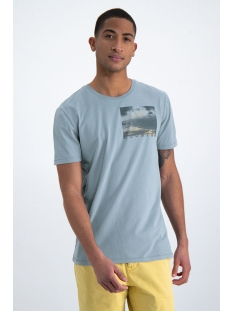 t shirt met print o01002 garcia t-shirt 3089 mineral blue