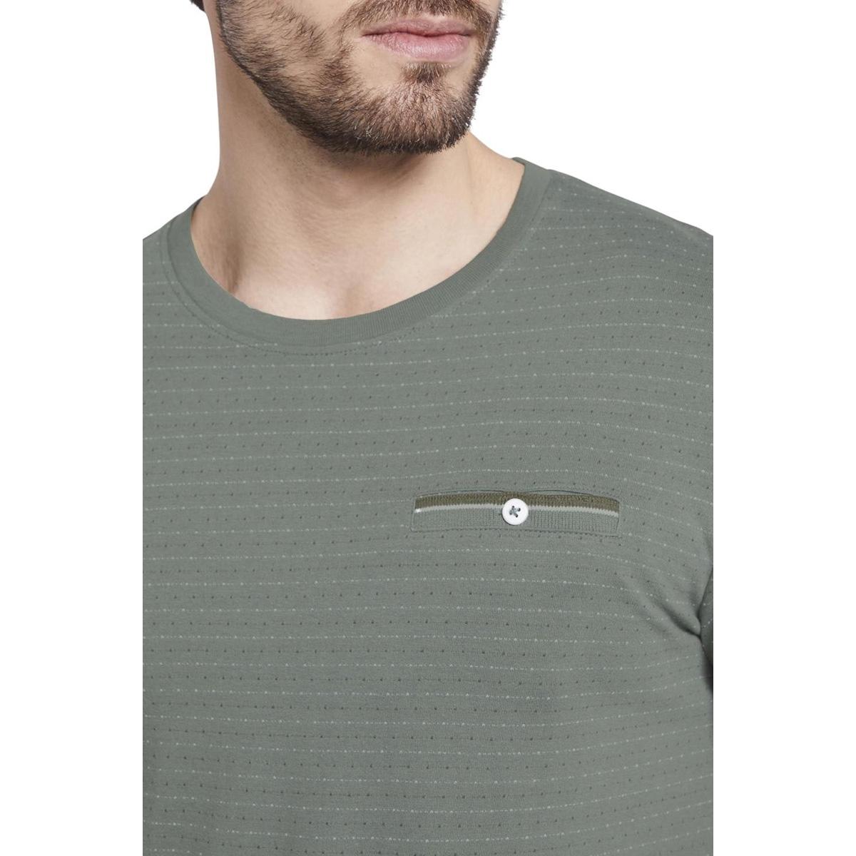 t-shirt met gestructureerd patroon 1018131xx10 tom tailor t-shirt 13182