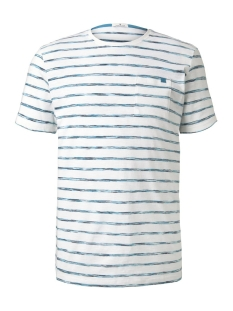Tom Tailor T-shirt GESTREEPT T-SHIRT MET BORSTZAK 1018127XX10 22375