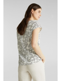 printed shirt met elastiek in de zoom 030ee1k356 esprit t-shirt e110