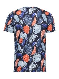 jorflame aop tee ss crew neck 12168895 jack & jones t-shirt navy blazer/slim