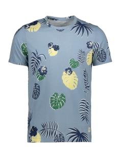 Jack & Jones T-shirt JORFLAME AOP TEE SS CREW NECK 12168895 Ashley Blue/SLIM