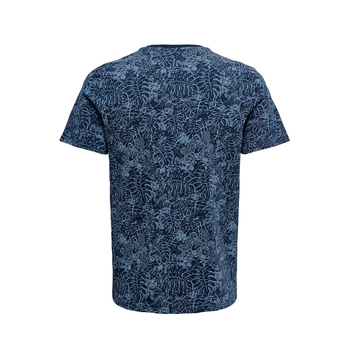 onscaj life slim aop  tee nf 6209 22016209 only & sons t-shirt dress blues