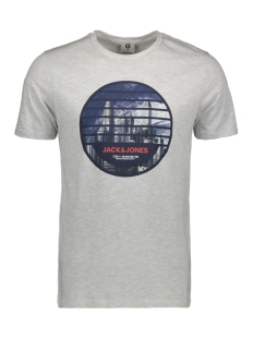 jcoifter tee ss crew neck fst 12172216 jack & jones t-shirt white melange/slim