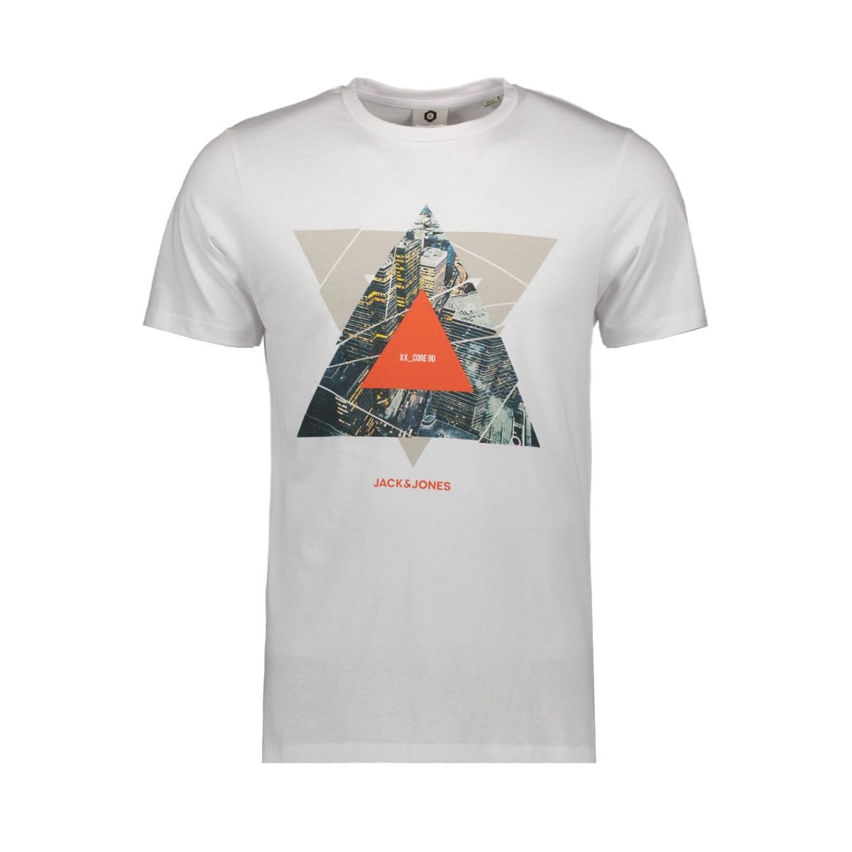 jcoifter tee ss crew neck fst 12172216 jack & jones t-shirt white/slim