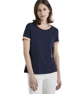 Tom Tailor T-shirt T SHIRT MET CONTRASTERENDE DETAILS 1016439XX71 10360
