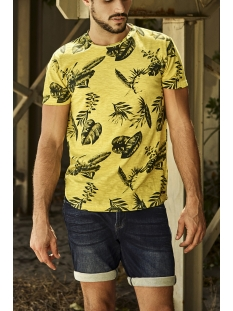 NO-EXCESS T-shirt ALL OVER PRINTED CREWNECK T SHIRT 95350217 056 Lime