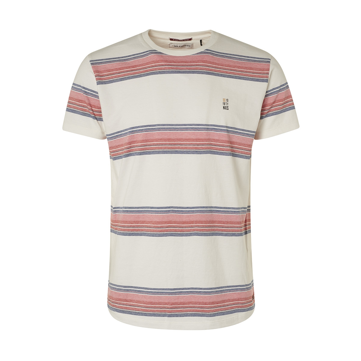 striped jersey crewneck t shirt 95350256 no-excess t-shirt 011 offwhite