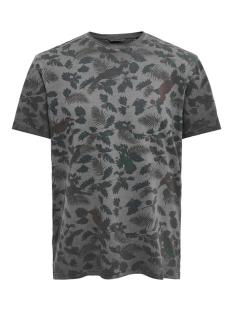 Only & Sons T-shirt ONSRUFUS REG SS AOP TEE 22015557 Black