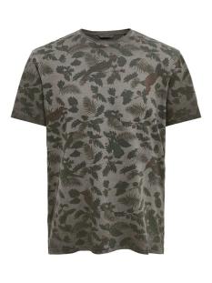 onsrufus reg ss aop tee 22015557 only & sons t-shirt black