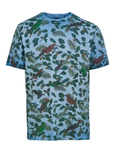 Only & Sons T-shirt ONSRUFUS REG SS AOP TEE 22015557 Dark Blue