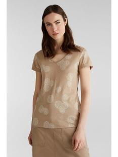 shirt met rubberen print all over 030ee1k339 esprit t-shirt e270