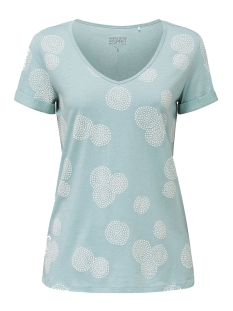 Esprit T-shirt SHIRT MET RUBBEREN PRINT ALL OVER 030EE1K339 E390