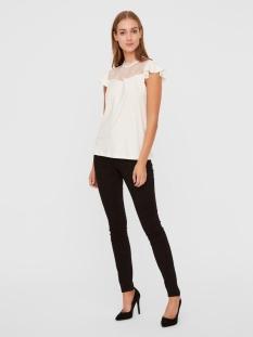 vmmilla ss lace top ga vo 10229454 vero moda t-shirt snow white