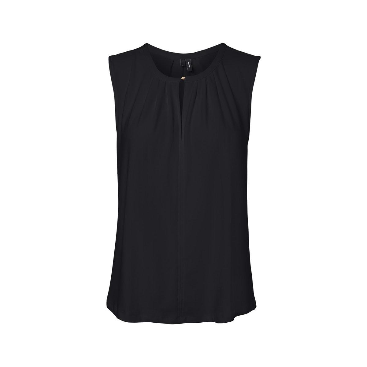 vmmilla sl button top ga vo 10229466 vero moda top black
