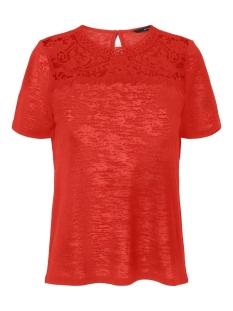 Vero Moda T-shirt VMKAROLA SS TOP JRS 10227579 Aurora Red
