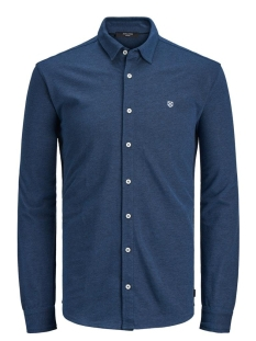 Jack & Jones Overhemd JPRTHEO BLA. LS JERSEY SHIRT 12171117 True Navy/SLIM FIT