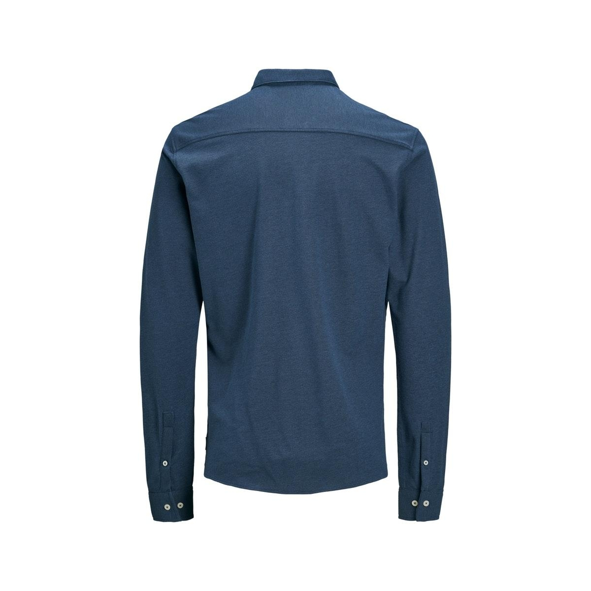 jprtheo bla. ls jersey shirt 12171117 jack & jones overhemd true navy/slim fit