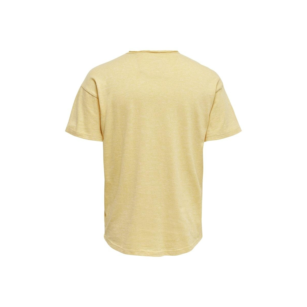 onscali life drop tee nf 6216 22016216 only & sons t-shirt misted yellow