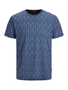 jprjames bla.tee ss crew neck 12167365 jack & jones t-shirt dark navy/full aop