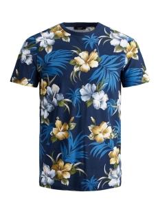 jprdale bla. tee ss crew neck pre 12166842 jack & jones t-shirt dark navy