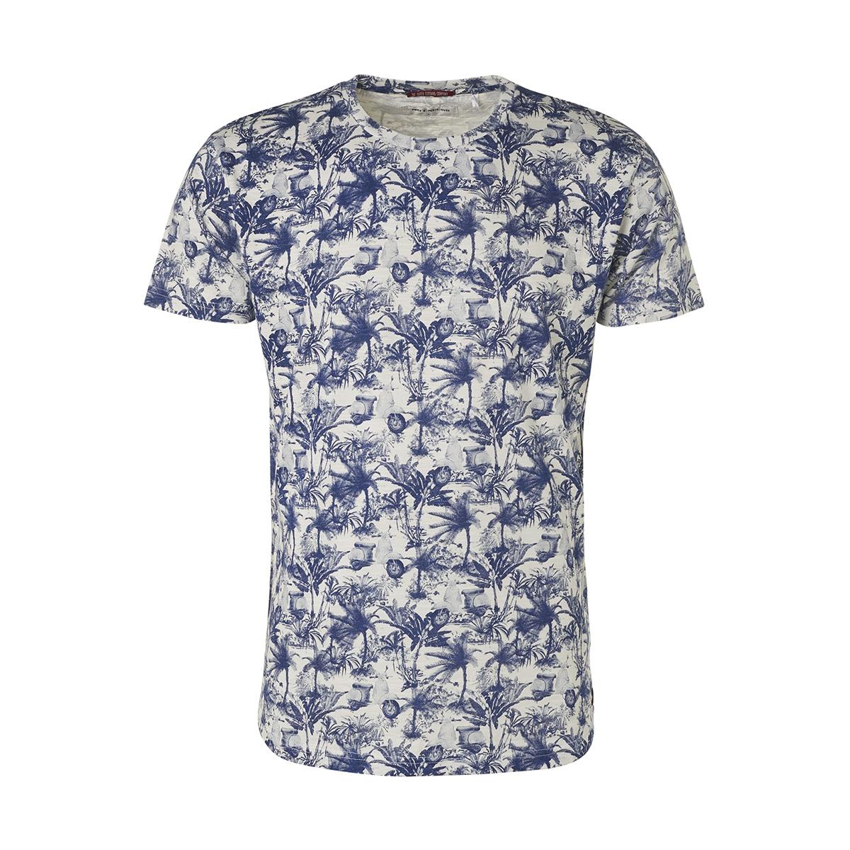 all over printed crewneck t shirt 95350304 no-excess t-shirt 136 indigo blue